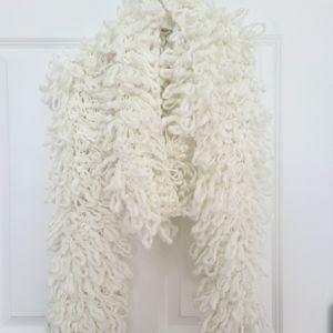 NWT DKNY Off White Chunky Kint Scarf